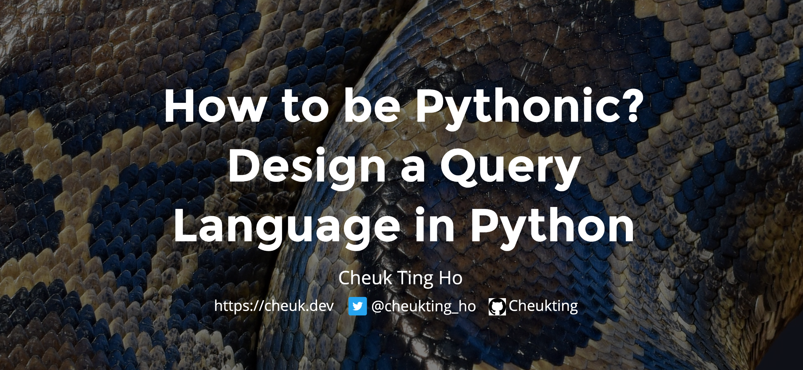 How to be Pythonic? Design a Query Language in Python